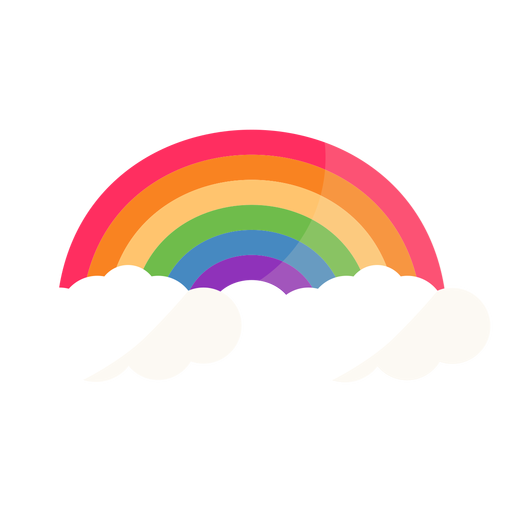 Arco arco arcoiris plano Transparent PNG