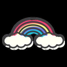 Regenbogenbogenbogenanschlag