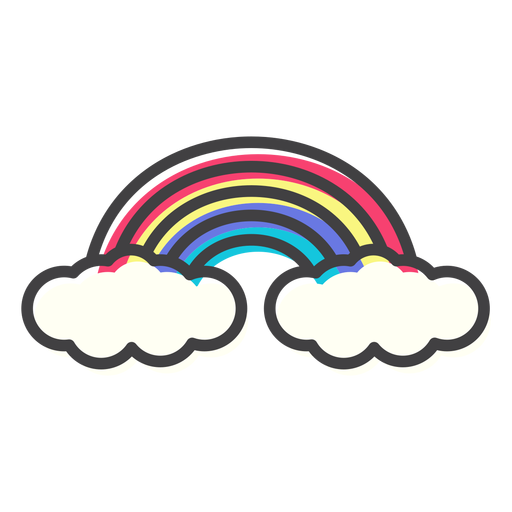 Rainbow arc arch stroke Transparent PNG