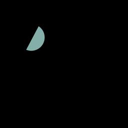 Icono de espacio satelital trazo