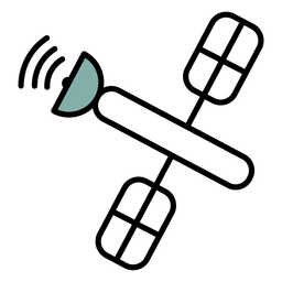 Traço de ícone do espaço satélite