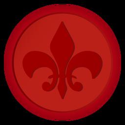 Selo, emblema, moeda, lírio, ilustração