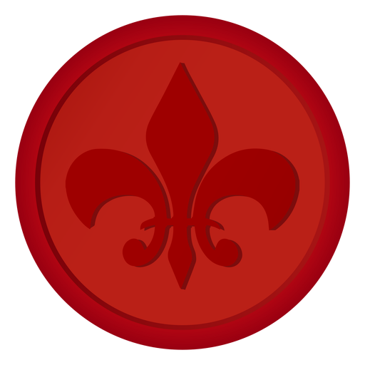 Seal badge coin lily illustration