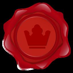 Selo, cera, coroa, ilustração