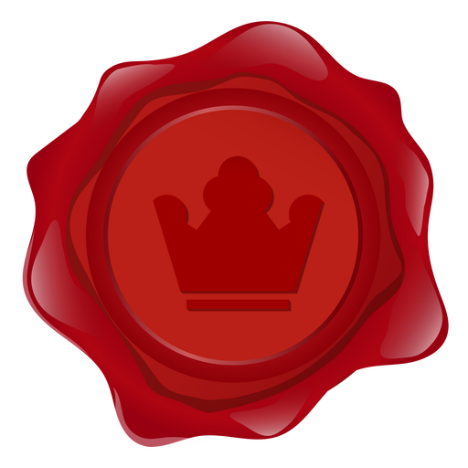 Seal wax crown illustration Transparent PNG