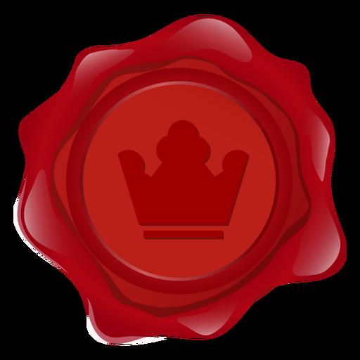 Sello de cera corona ilustración Transparent PNG