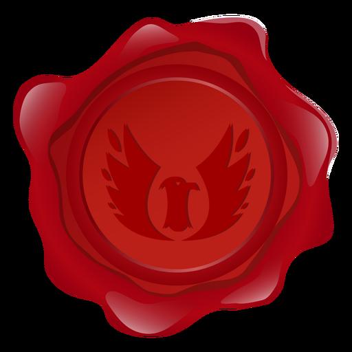 Ilustración del águila de cera del sello Transparent PNG
