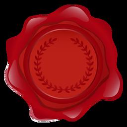 Ilustración de guirnalda de cera de sello