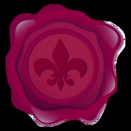 Ilustración de corona de lirio de cera de sello
