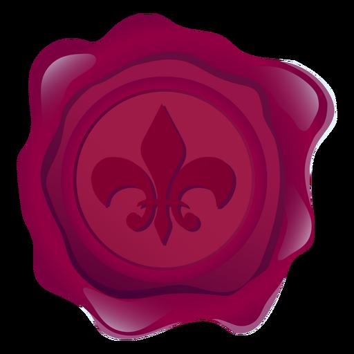 Selo, cera, lírio, coroa, ilustração Transparent PNG
