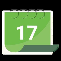 Dezessete calendário plano