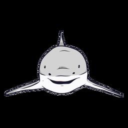 Ilustración de aleta de tiburón