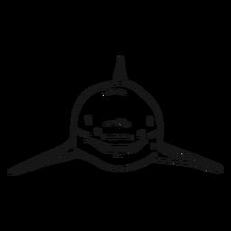Esboço de barbatana de tubarão