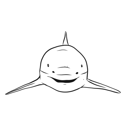 Dibujo de aleta de tiburón Transparent PNG