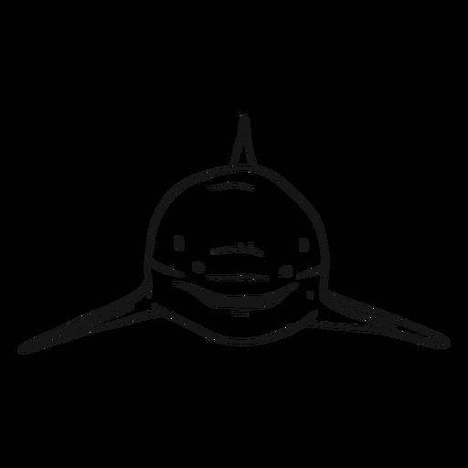 Shark fin sketch Transparent PNG