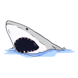Shark mouth jaw tooth sea illustration