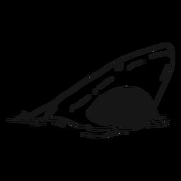 Boceto boca boca tiburón diente mar