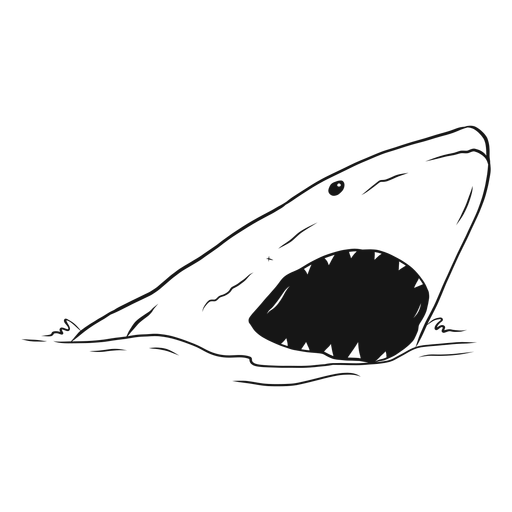 Shark mouth jaw tooth sea sketch Transparent PNG