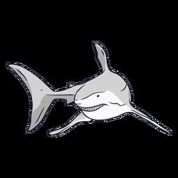 Ilustración de cola de aleta diente de tiburón