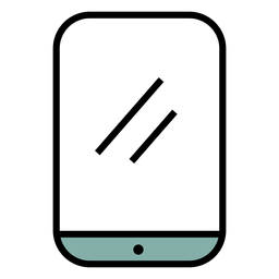 Icono de trazo de smartphone