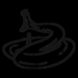 Serpiente boca diente torsión boceto