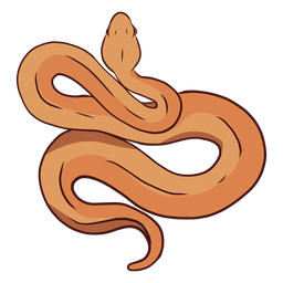 Snake twisting illustration