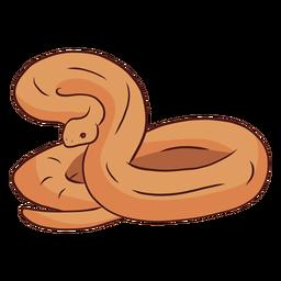 Ilustración de cola de serpiente retorciendo