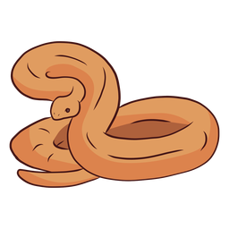 Snake twisting tail illustration