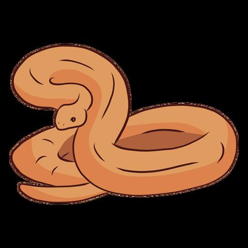 Serpiente torciendo la cola ilustración Transparent PNG
