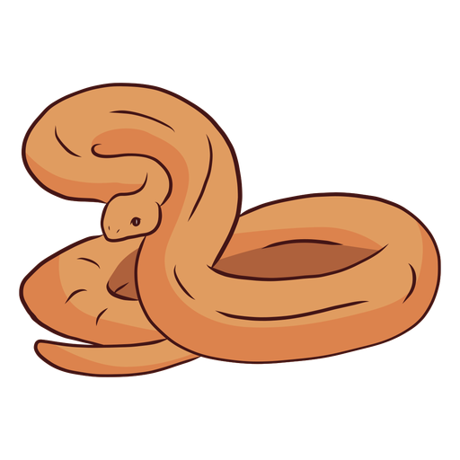Snake twisting tail illustration Transparent PNG