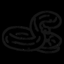 Schlange, die Schwanzskizze verdreht