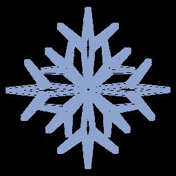 Golpe de frío del copo de nieve