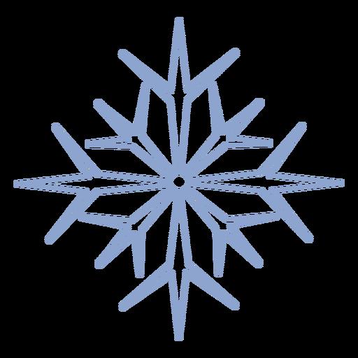 Golpe de frío del copo de nieve Transparent PNG