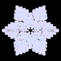 Ilustração de floco de neve