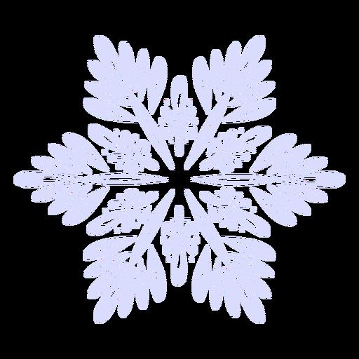 Snowflake illustration Transparent PNG