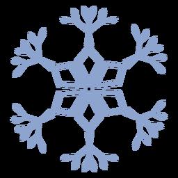 Patrón de copo de nieve golpe frío