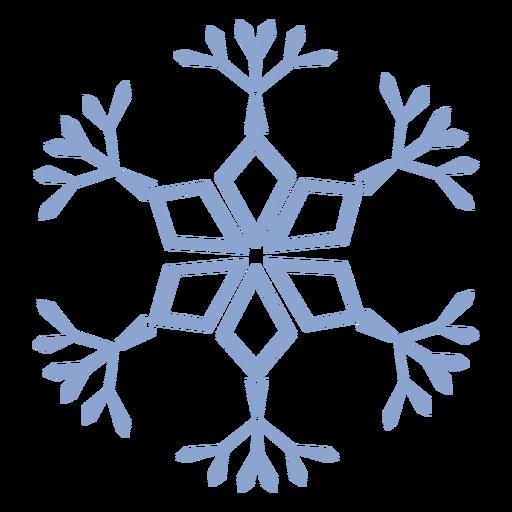 Patrón de copo de nieve golpe frío Transparent PNG