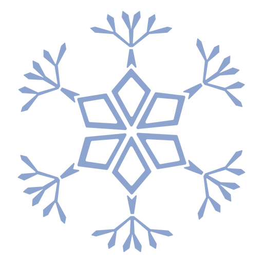 Snowflake pattern cold stroke Transparent PNG