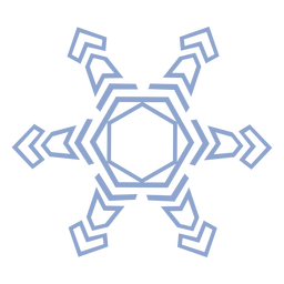 Schneeflocke Muster Schlaganfall