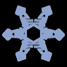 Snowflake pattern stroke