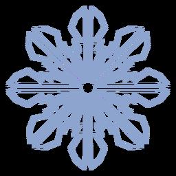 Patrón de copo de nieve invierno trazo
