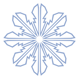 Snowflake pattern winter stroke