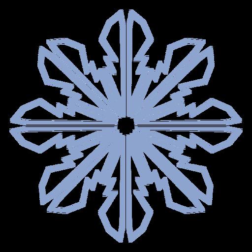 Curso de inverno padrão de floco de neve Transparent PNG