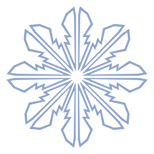Snowflake pattern winter stroke Transparent PNG