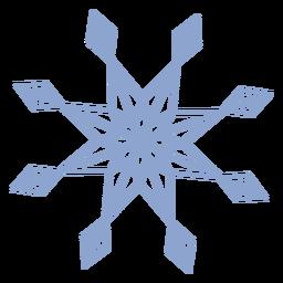 Snowflake stroke