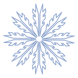 Snowflake winter stroke