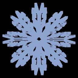 Snowflake winter stroke