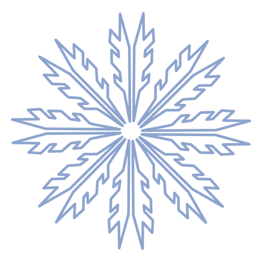 Snowflake winter stroke Transparent PNG
