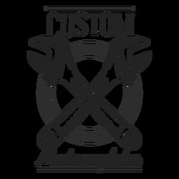 Emblema de motocycle de texto de chave de boca