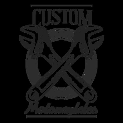Emblema de motocycle de texto de chave de boca Transparent PNG